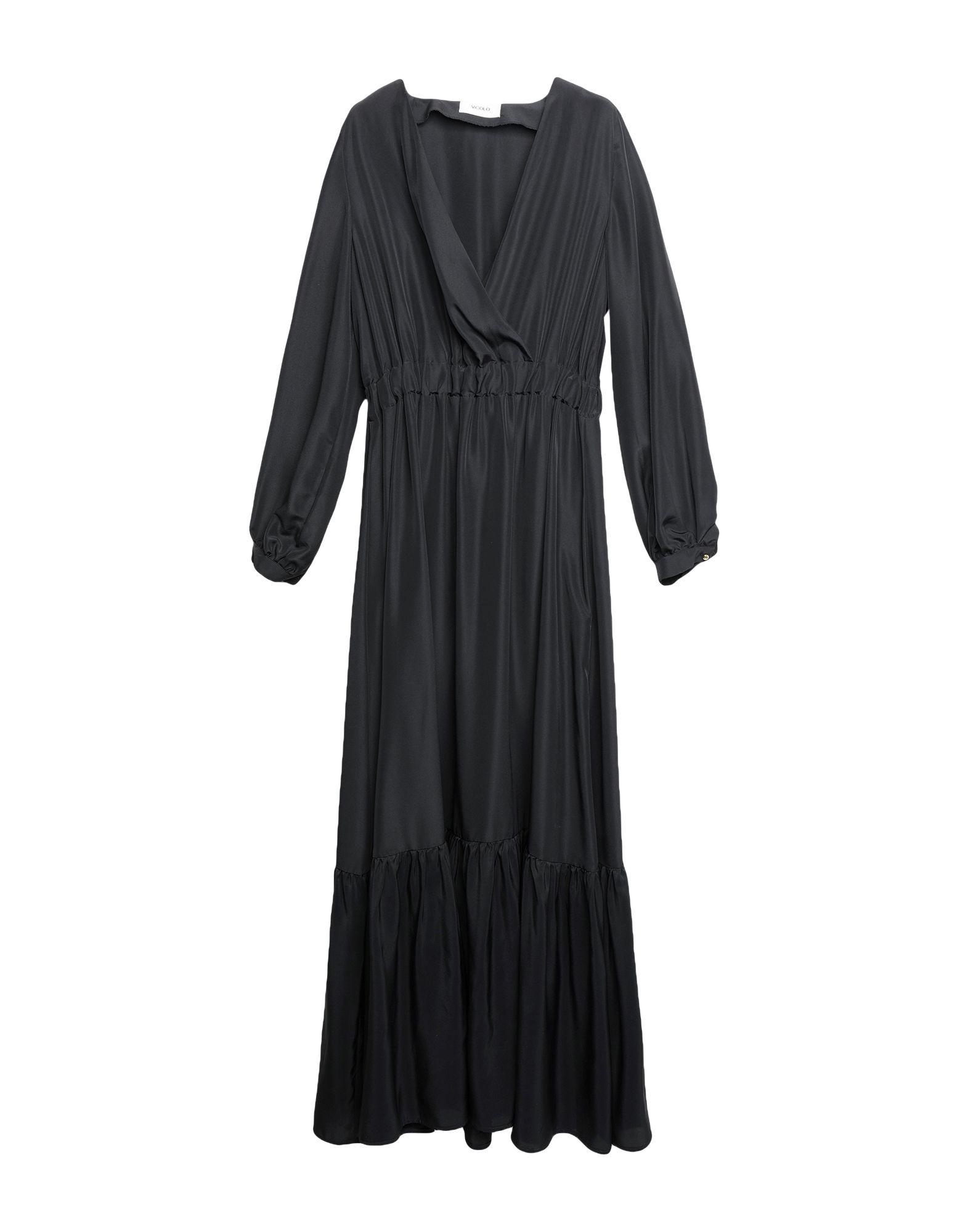 《期間限定セール開催中!》VICOLO レディース ロングワンピース&ドレス ブラック M ポリエステル 100%
