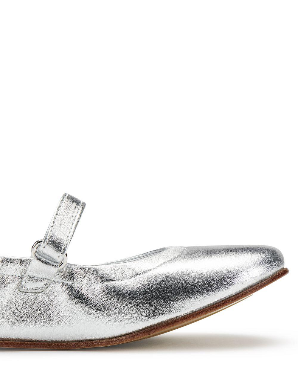 SILVER BALLET FLATS - Lanvin