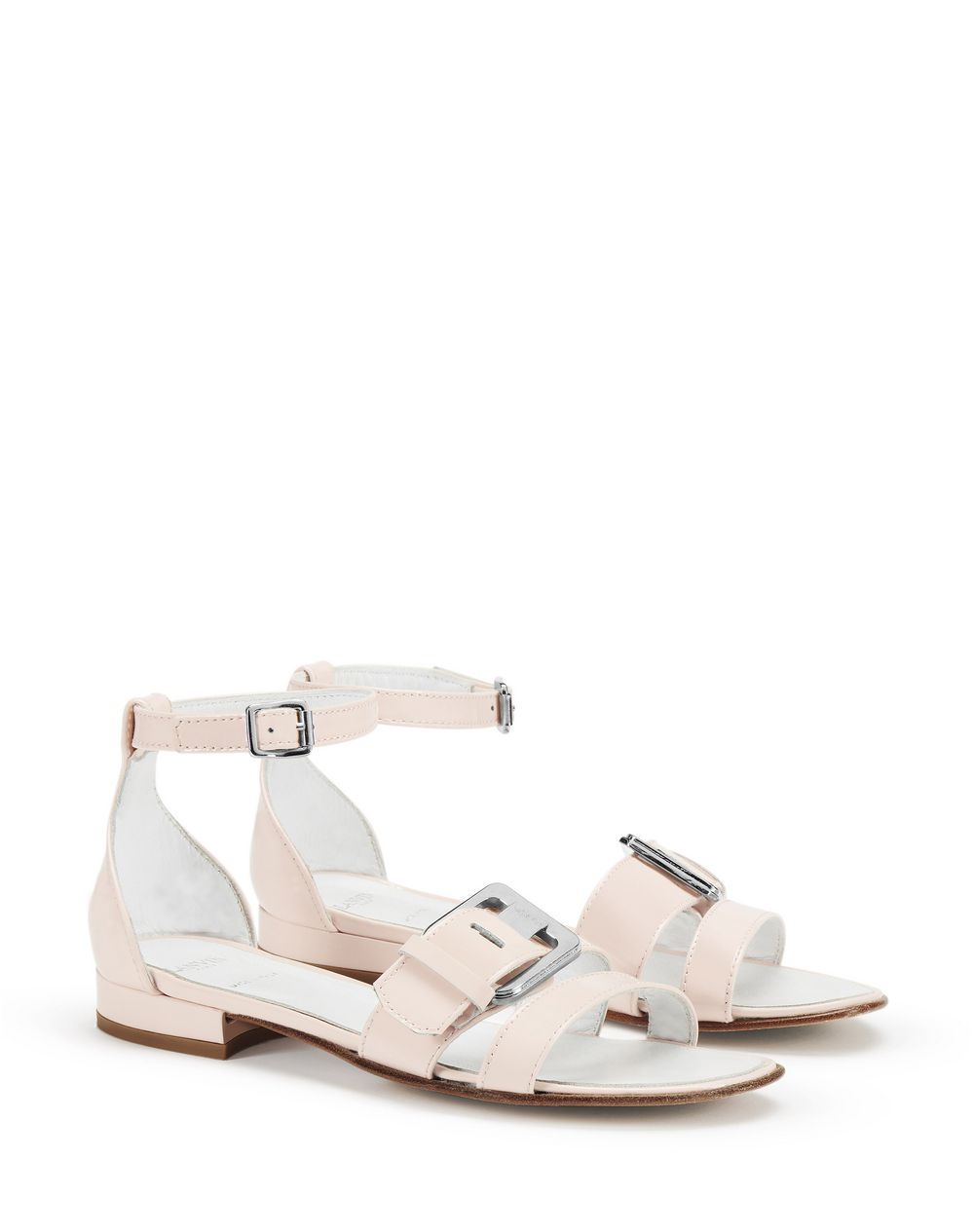 PINK PATENT LEATHER SANDALS      - Lanvin