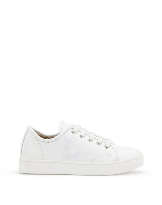 WHITE LOW-TOP SNEAKERS      - Lanvin