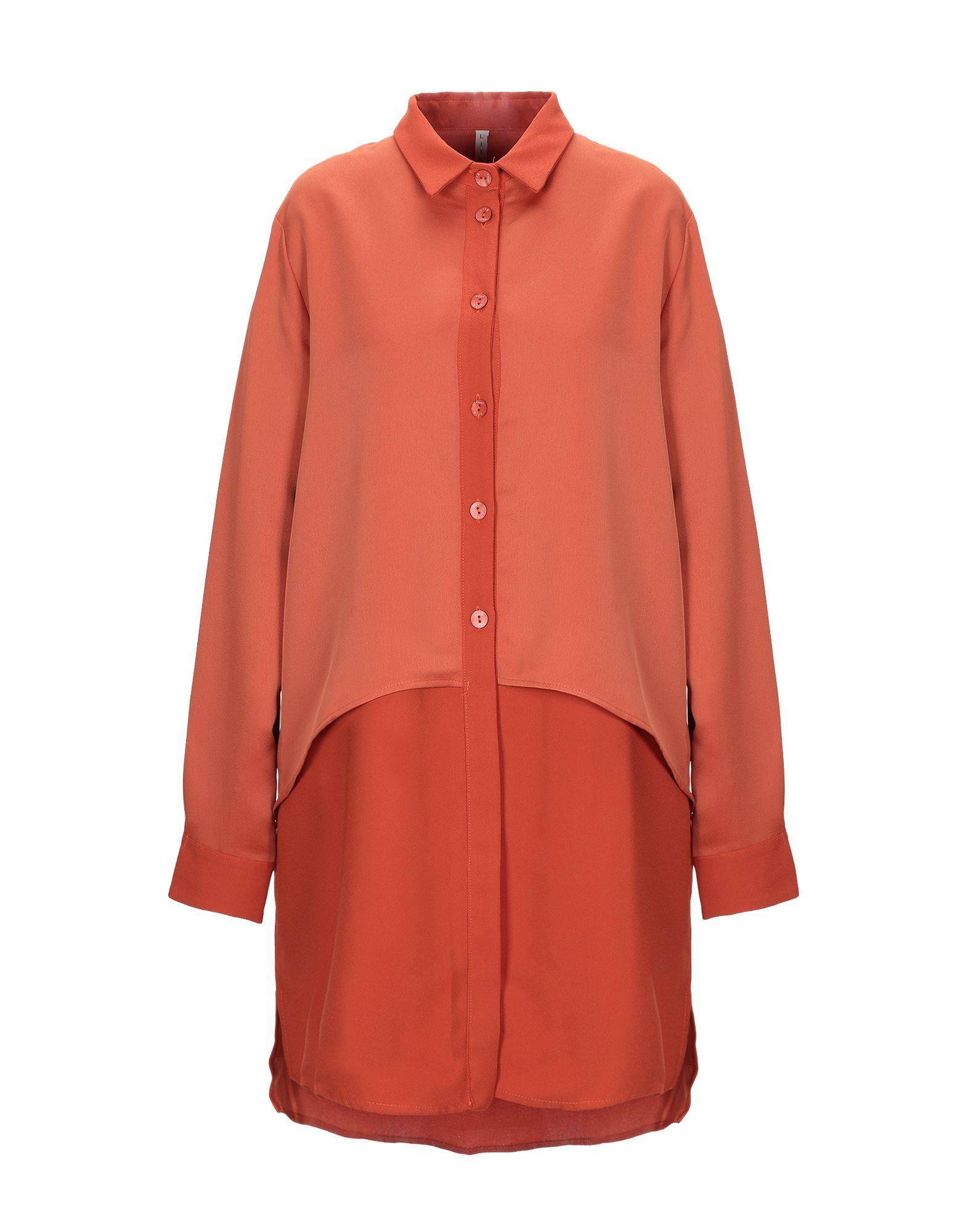 《期間限定 セール開催中》LIIS - JAPAN レディース ミニワンピース&ドレス オレンジ 42 ポリエステル 100%