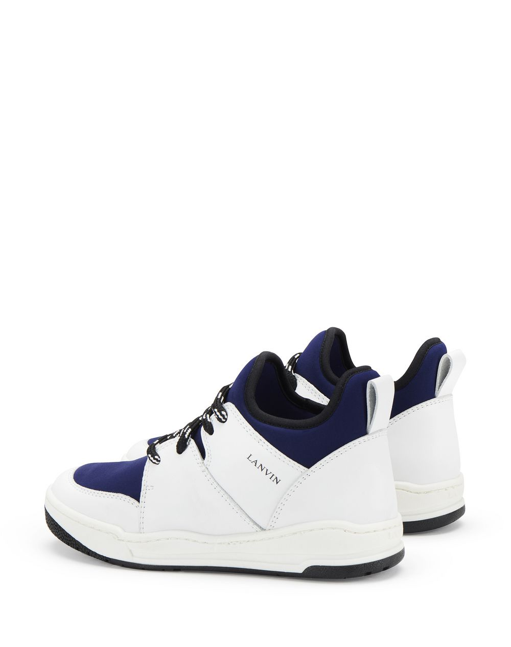 TWO-TONED MID-TOP SNEAKERS     - Lanvin