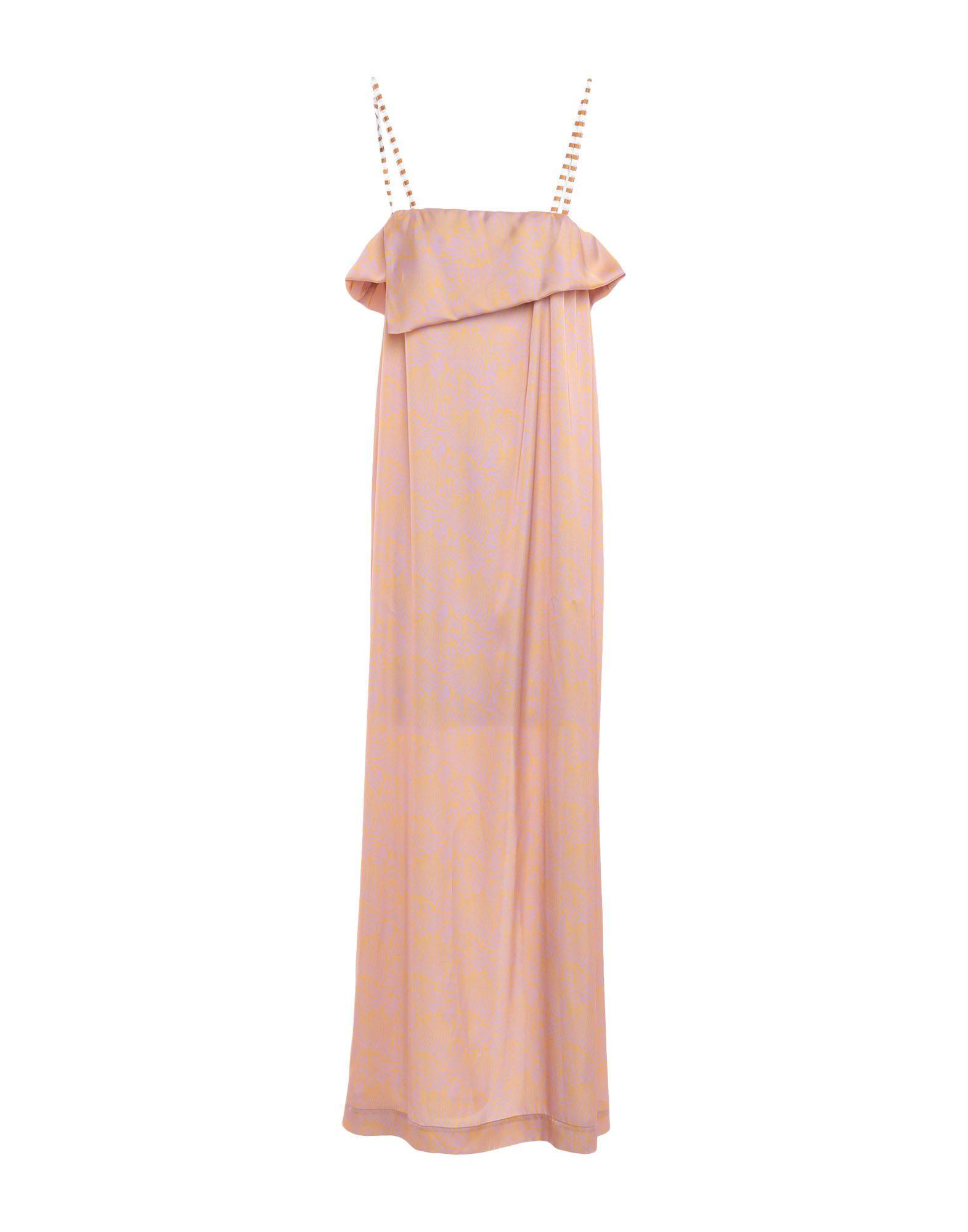 《セール開催中》LIIS - JAPAN レディース ロングワンピース&ドレス ピンク 46 ポリエステル 100%