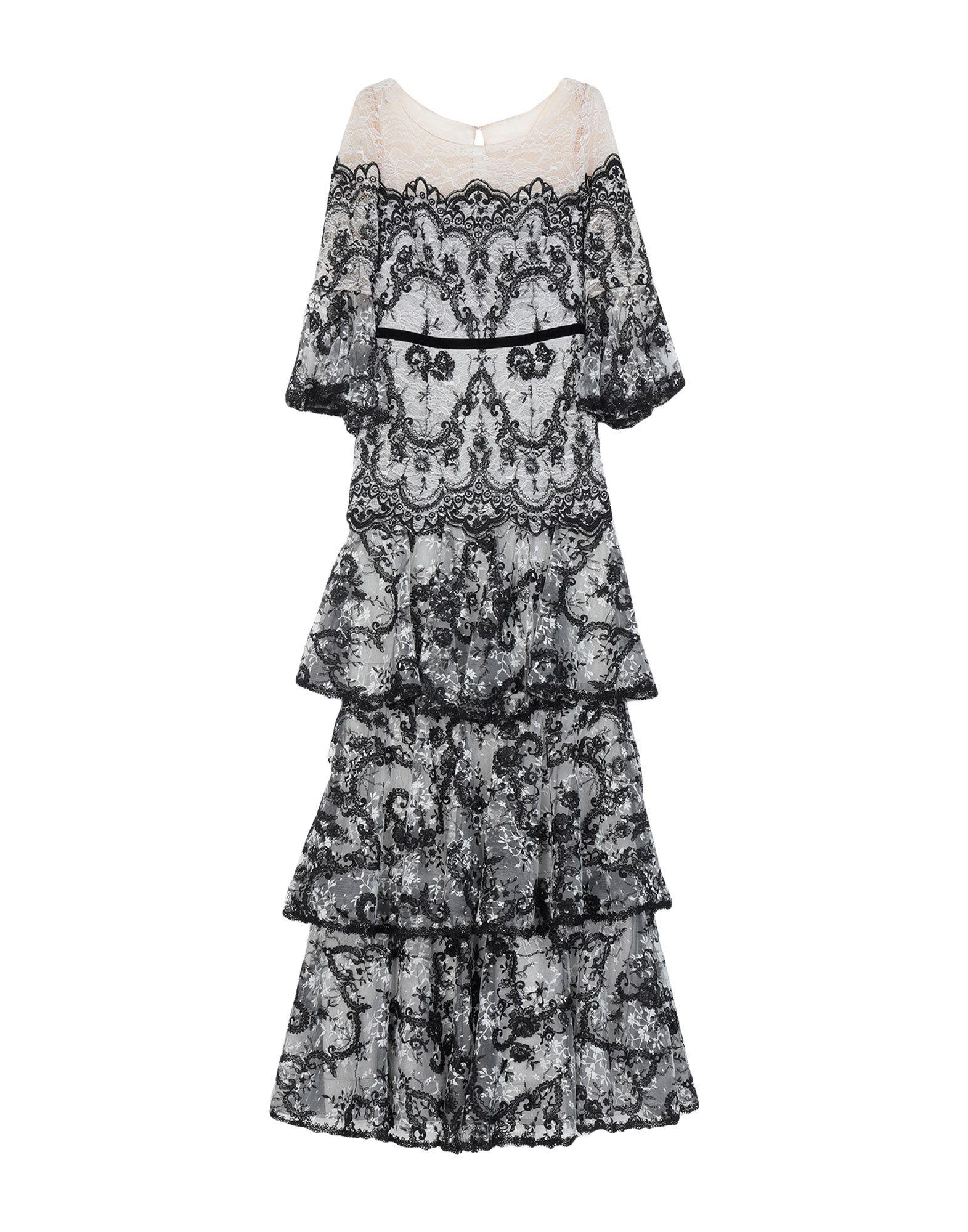 《セール開催中》MARCHESA NOTTE レディース ロングワンピース&ドレス ブラック 2 ナイロン 100%