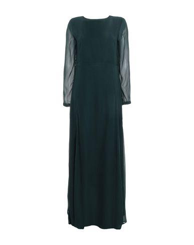 Купить Женское длинное платье  темно-зеленого цвета