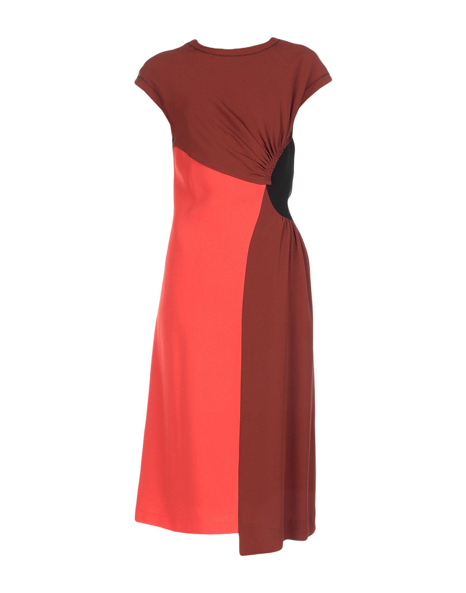 DRIES VAN NOTEN Платье длиной 3/4 костюм red fox red fox wool dry light женский