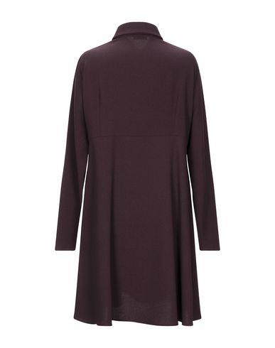 Фото 2 - Женское короткое платье GOLD CASE цвет баклажанный