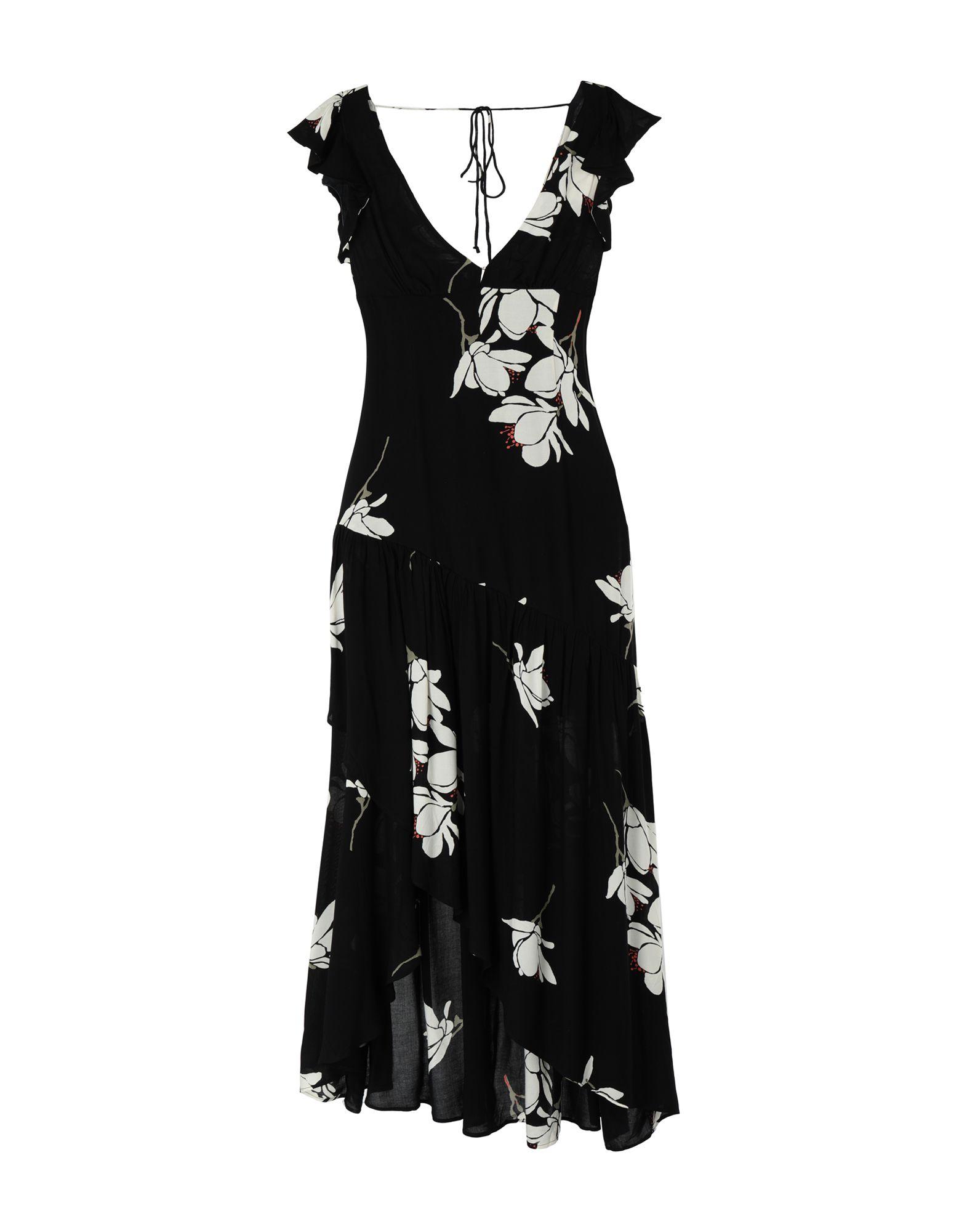 《セール開催中》FREE PEOPLE レディース ロングワンピース&ドレス ブラック 0 レーヨン SHE'S A WATERFALL MAXI