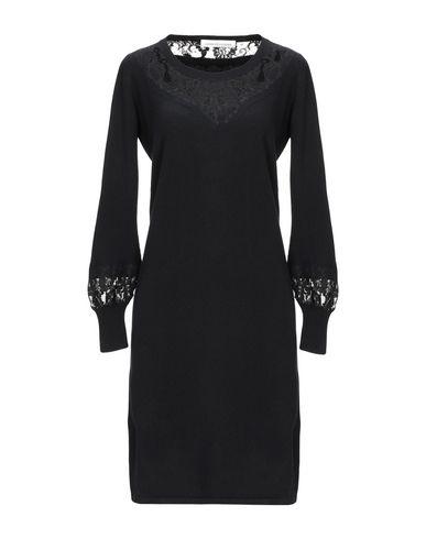 Купить Платье до колена от LAMBERTO LOSANI черного цвета