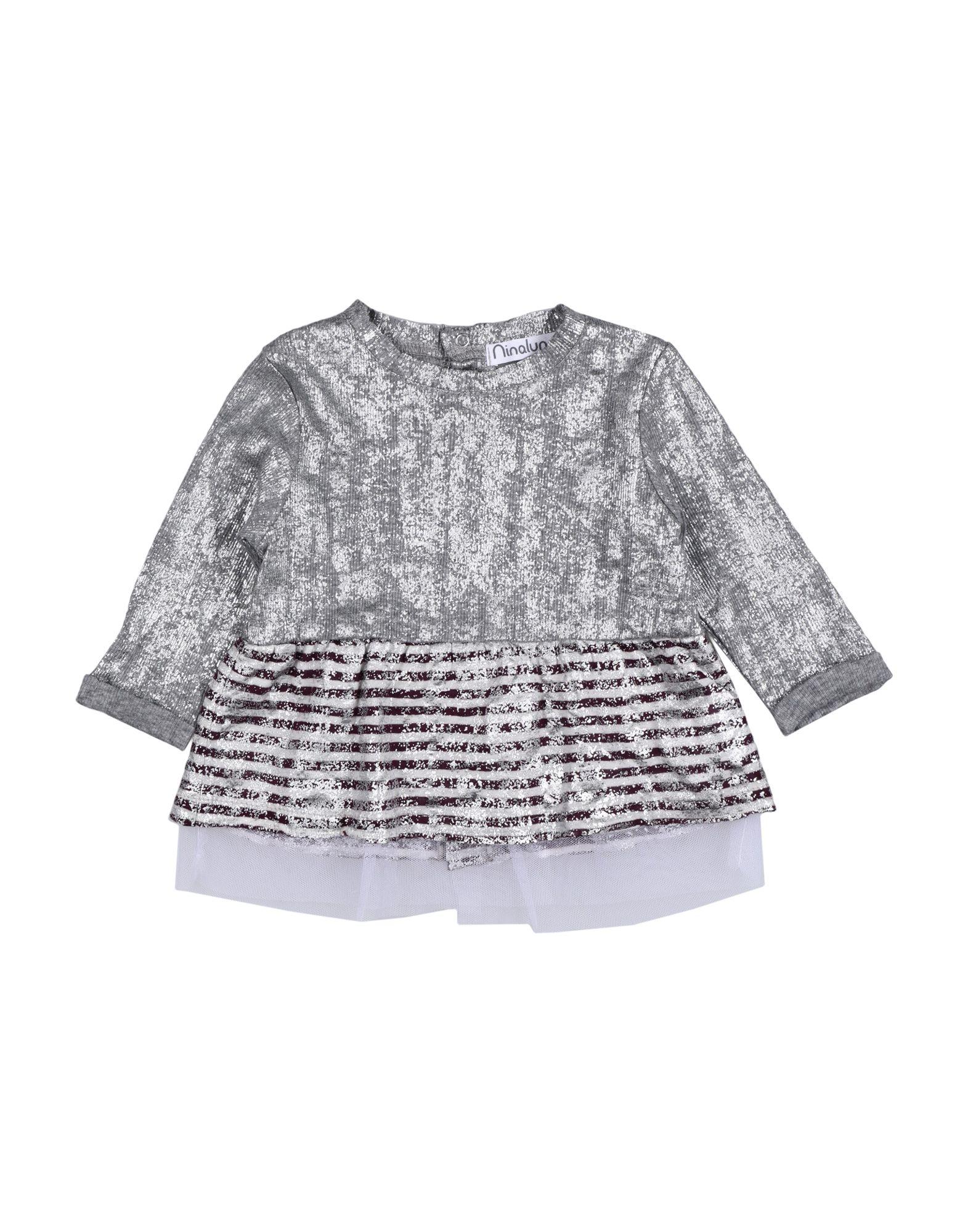 Ninaluna Kids' T-shirts In Gray