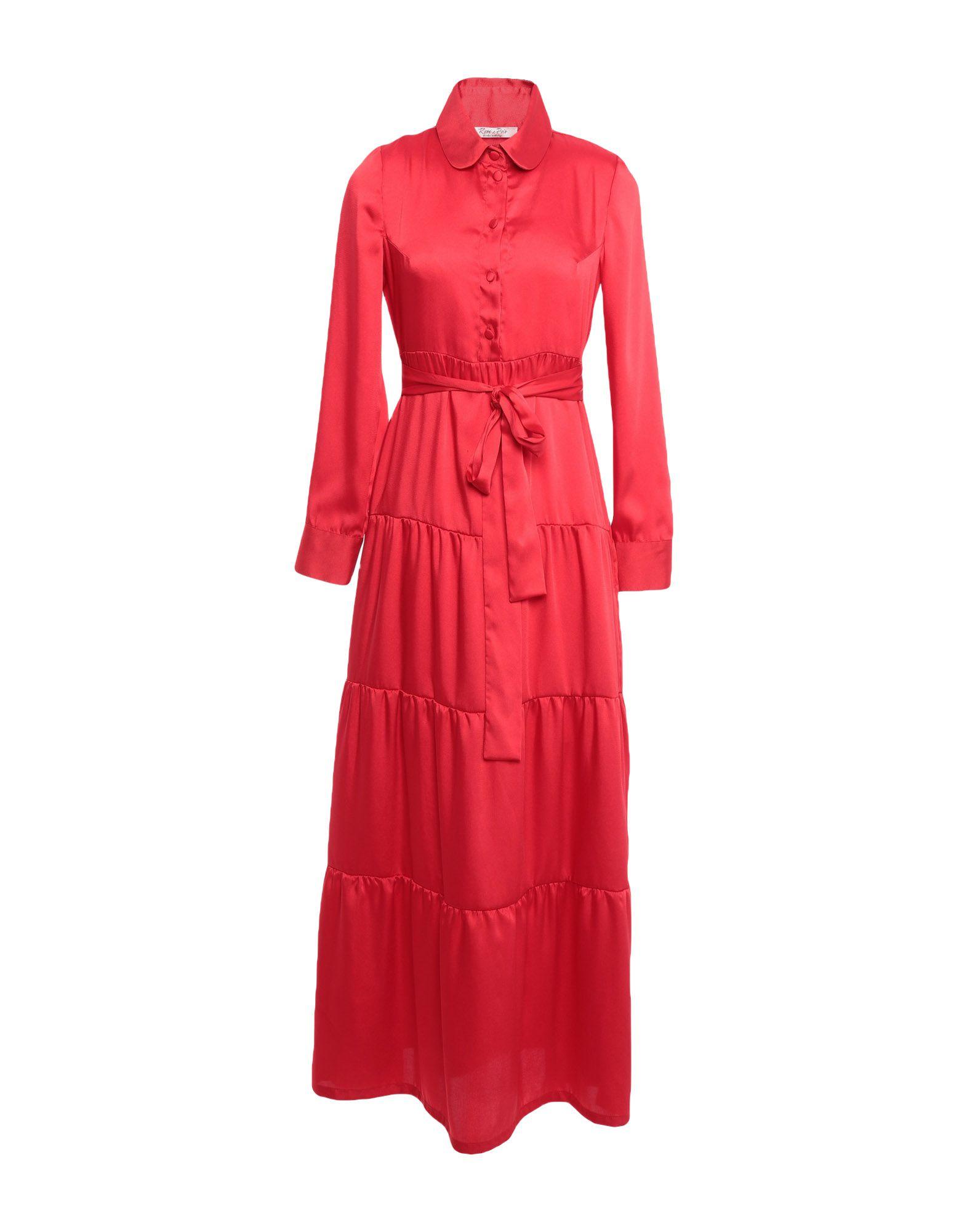 ROSE' A POIS Длинное платье rose a pois короткое платье