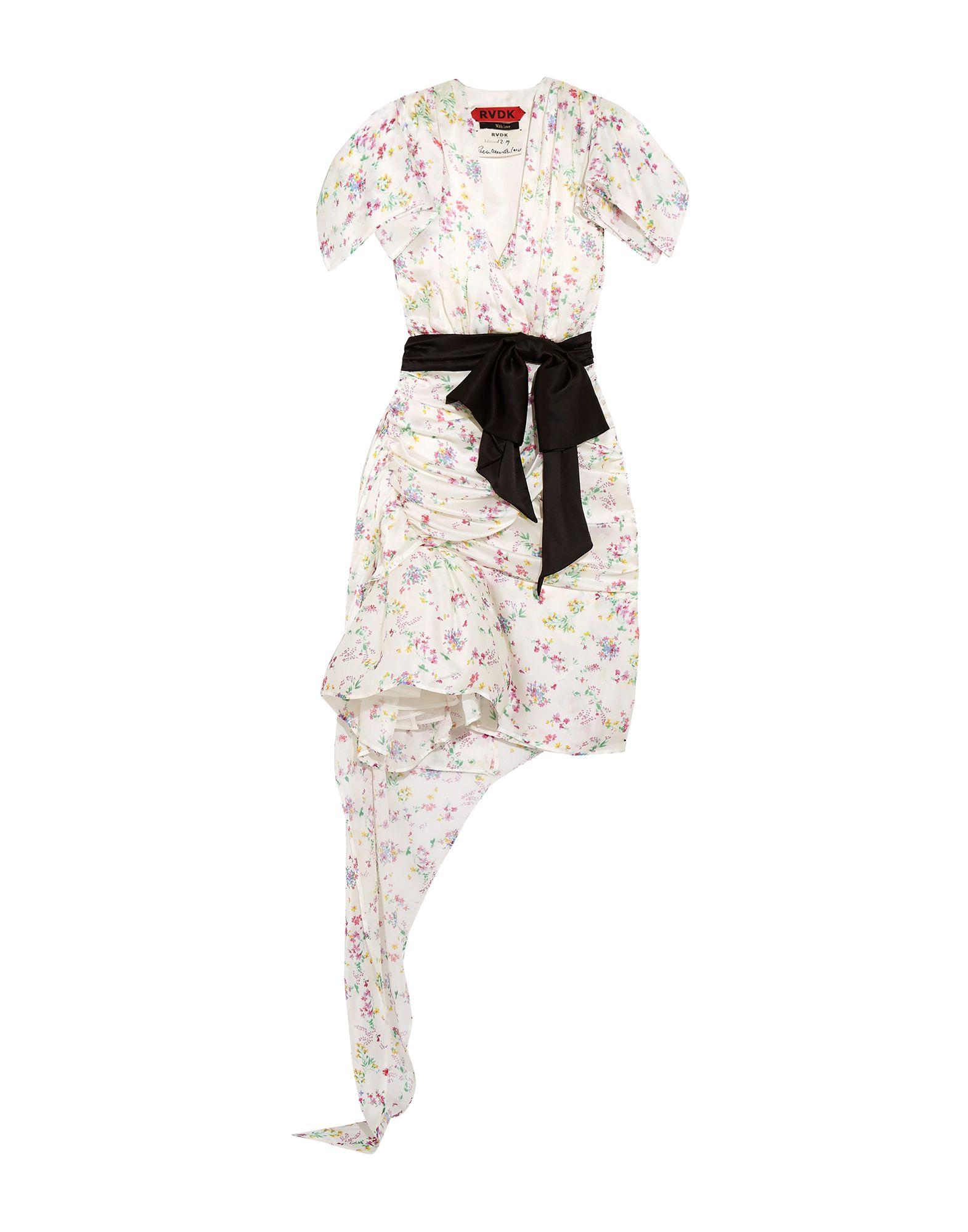 《セール開催中》RONALD VAN DER KEMP レディース ミニワンピース&ドレス ホワイト 34 シルク 100%