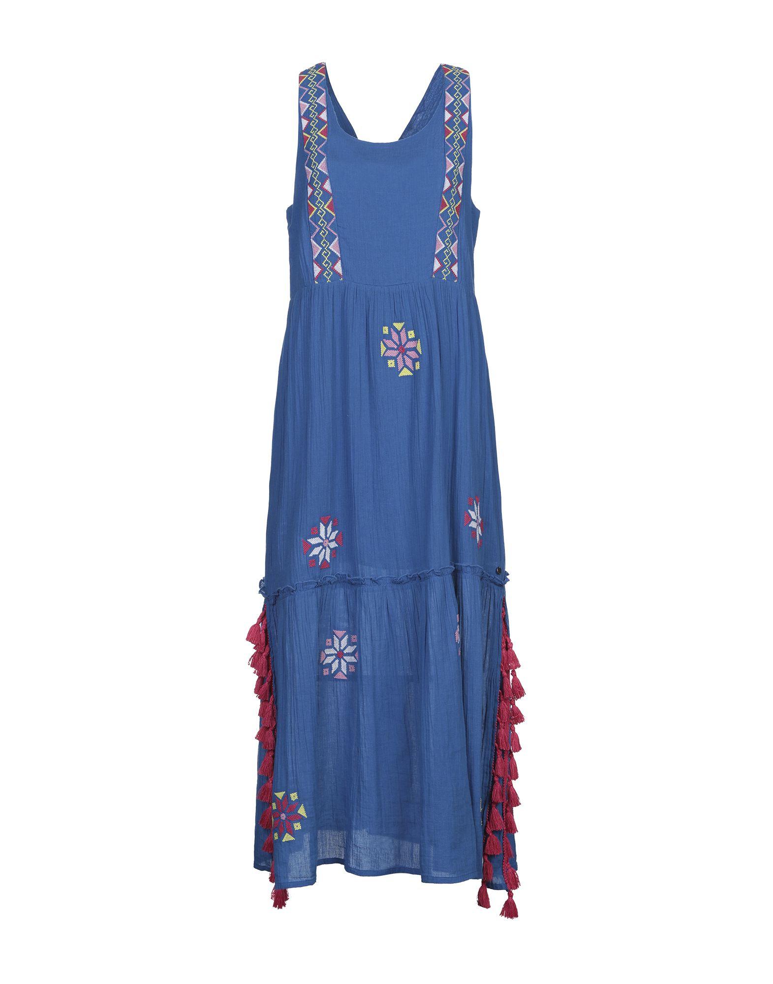 Длинное платье  - Синий цвет