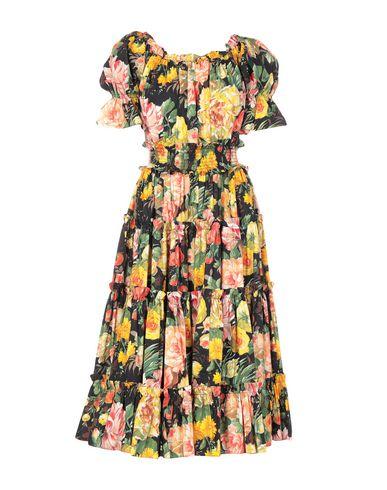 Купить Платье длиной 3/4 желтого цвета