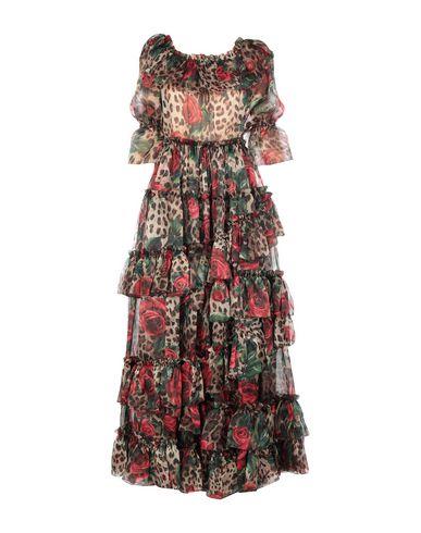 Купить Женское длинное платье  коричневого цвета