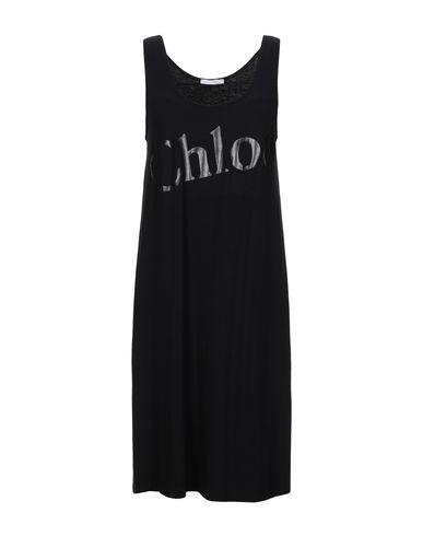 Фото - Женское короткое платье CHLOÉ черного цвета