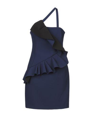 Фото - Женское короткое платье LALTRAMODA темно-синего цвета