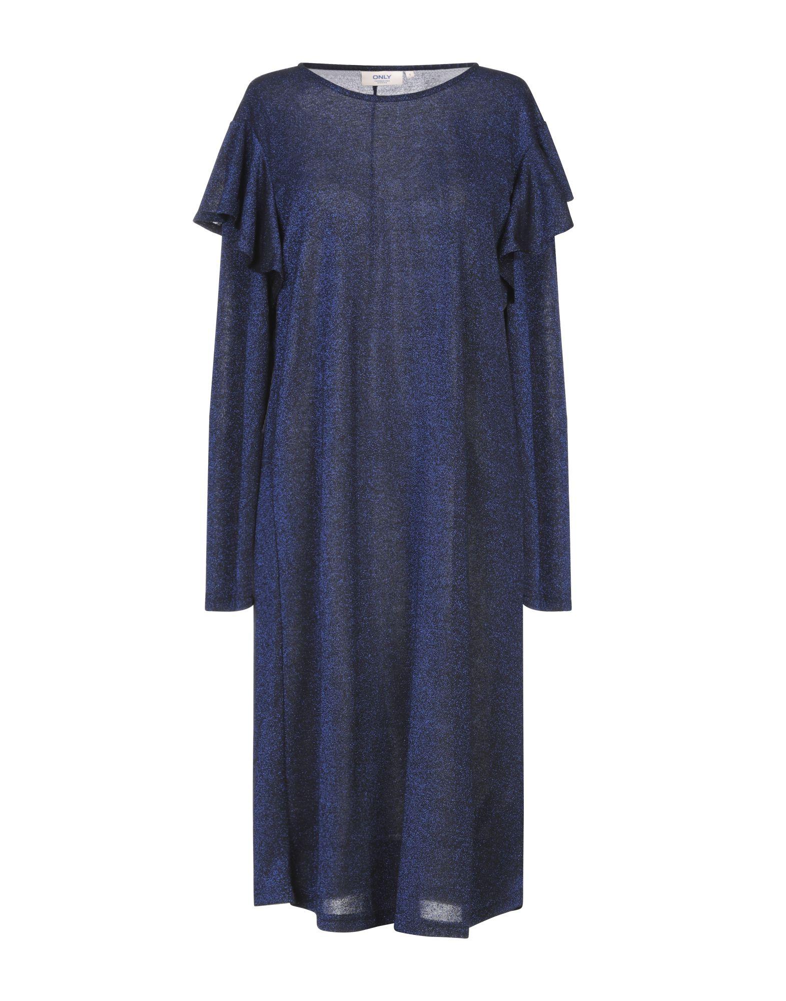 Платье до колена  - Желтый,Синий цвет