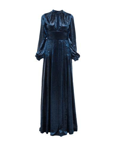 Фото - Женское длинное платье RAQUEL DINIZ темно-синего цвета