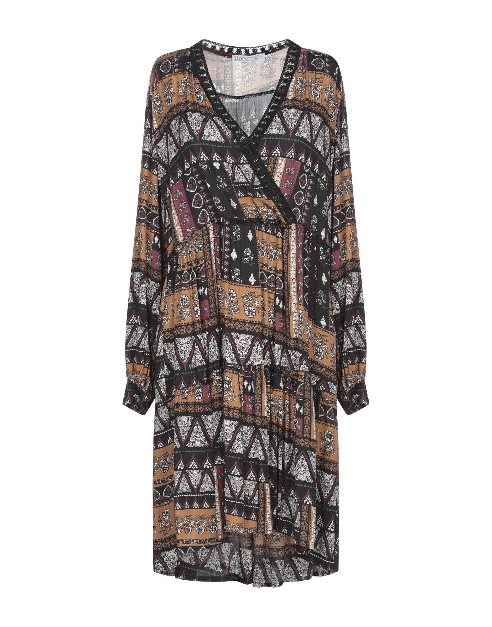 《期間限定セール中》LUCKY CLOVER レディース ミニワンピース&ドレス キャメル M レーヨン 100%