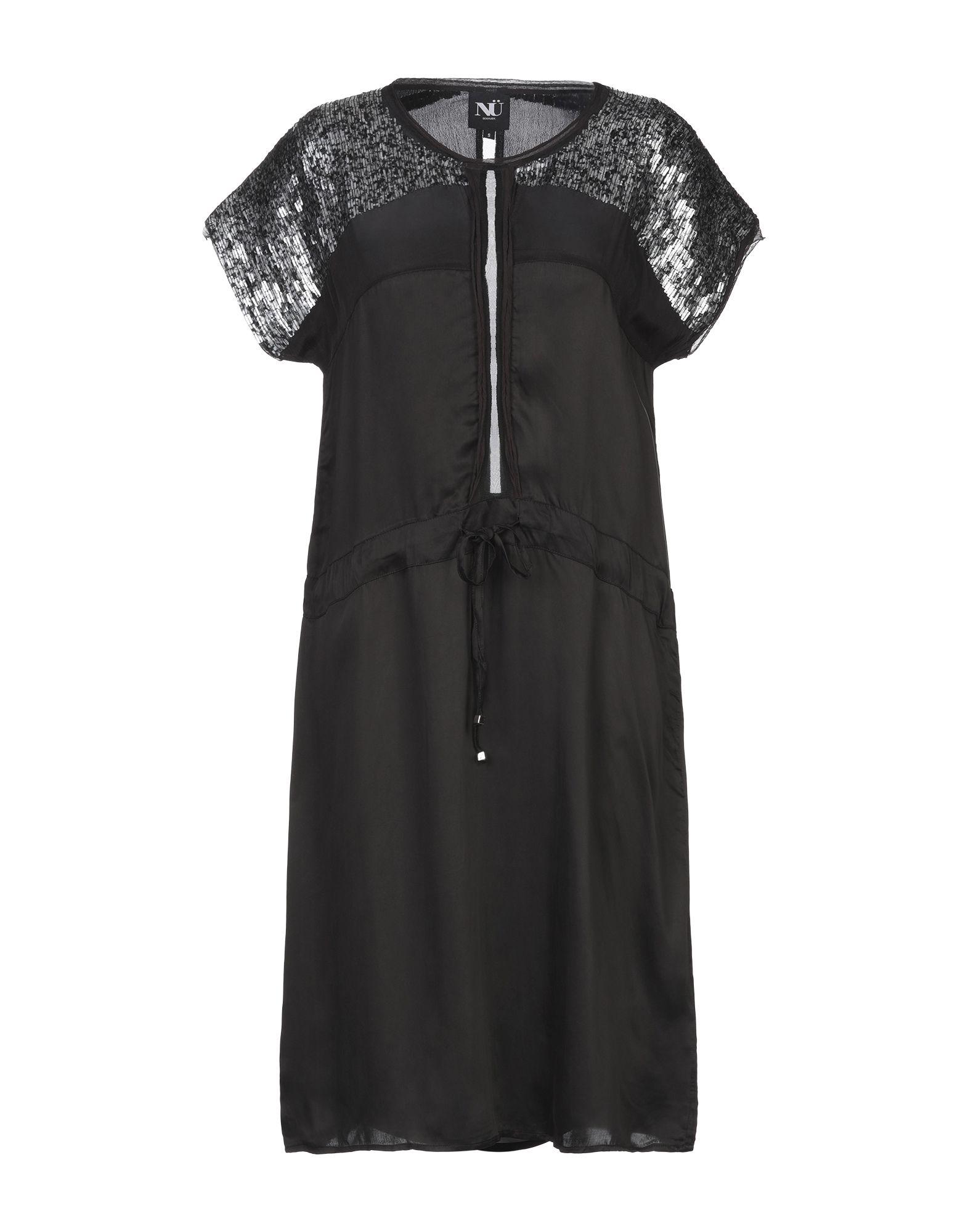 NÜ DENMARK Короткое платье свитшот print bar denmark