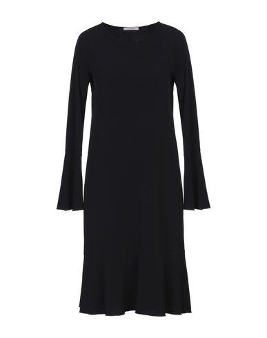 Фото - Платье до колена от HUGENBERG темно-синего цвета