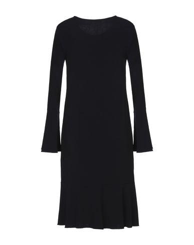Фото 2 - Платье до колена от HUGENBERG темно-синего цвета