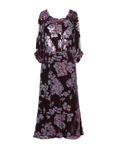 Фото - Платье длиной 3/4 от SALONI цвет баклажанный