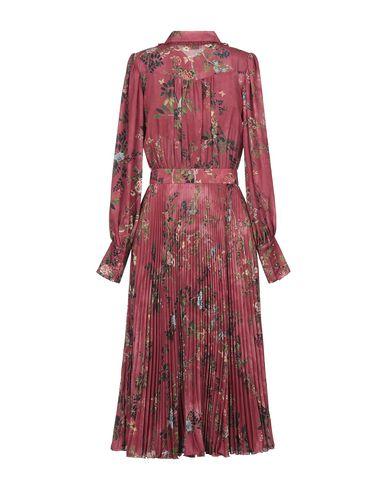 Фото 2 - Платье длиной 3/4 кирпично-красного цвета