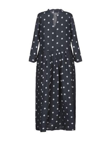 Фото 2 - Платье длиной 3/4 от SAINT TROPEZ темно-синего цвета