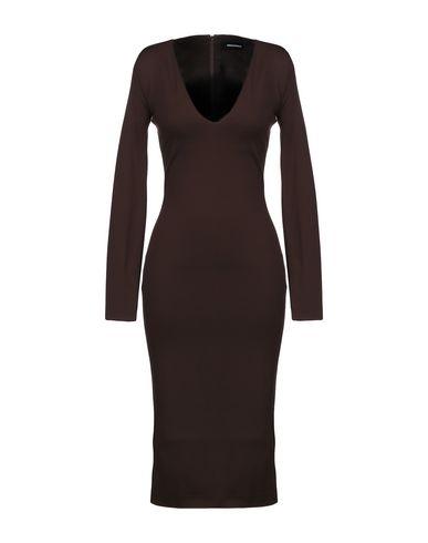 Фото - Платье до колена цвет какао