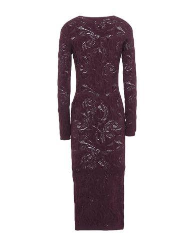 Фото 2 - Платье до колена цвет баклажанный