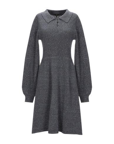 Фото - Женское короткое платье  свинцово-серого цвета