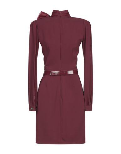 Фото 2 - Женское короткое платье  красно-коричневого цвета