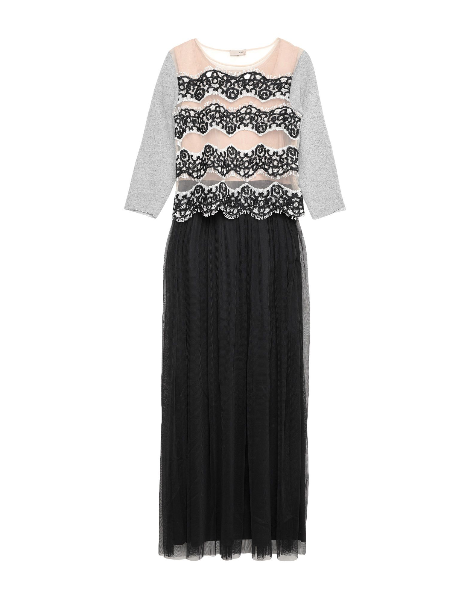 SCEE by TWINSET Длинное платье scee by twinset платье до колена
