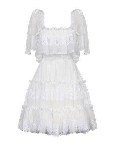 Купить Женское короткое платье  белого цвета