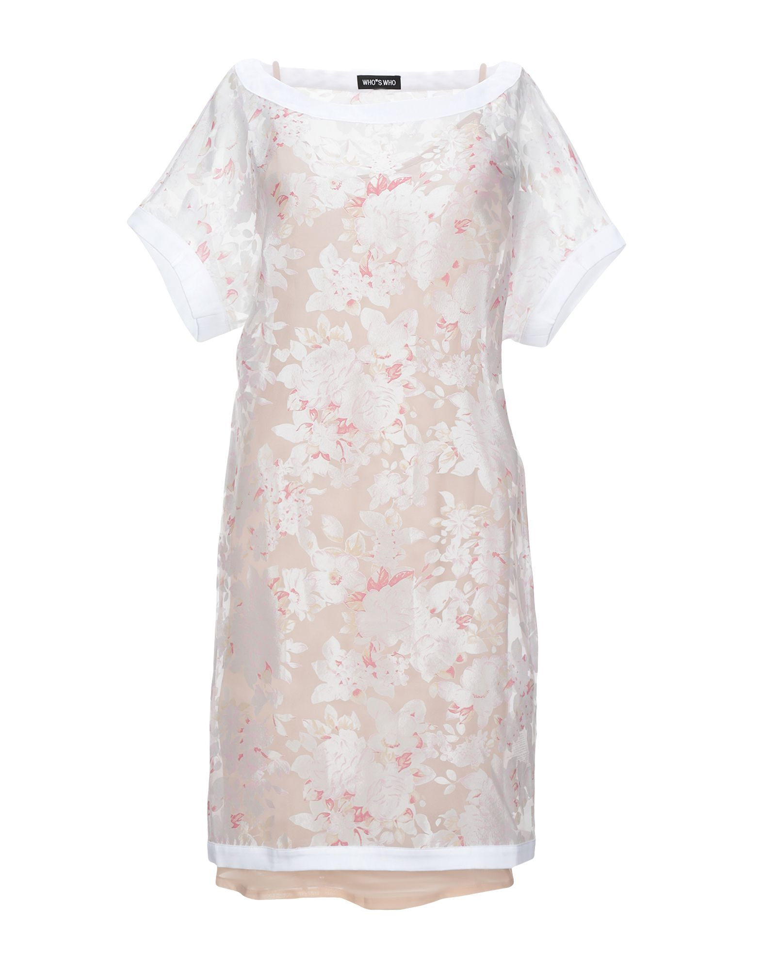 WHO*S WHO Короткое платье свободное платье с рукавами бабочка who s who