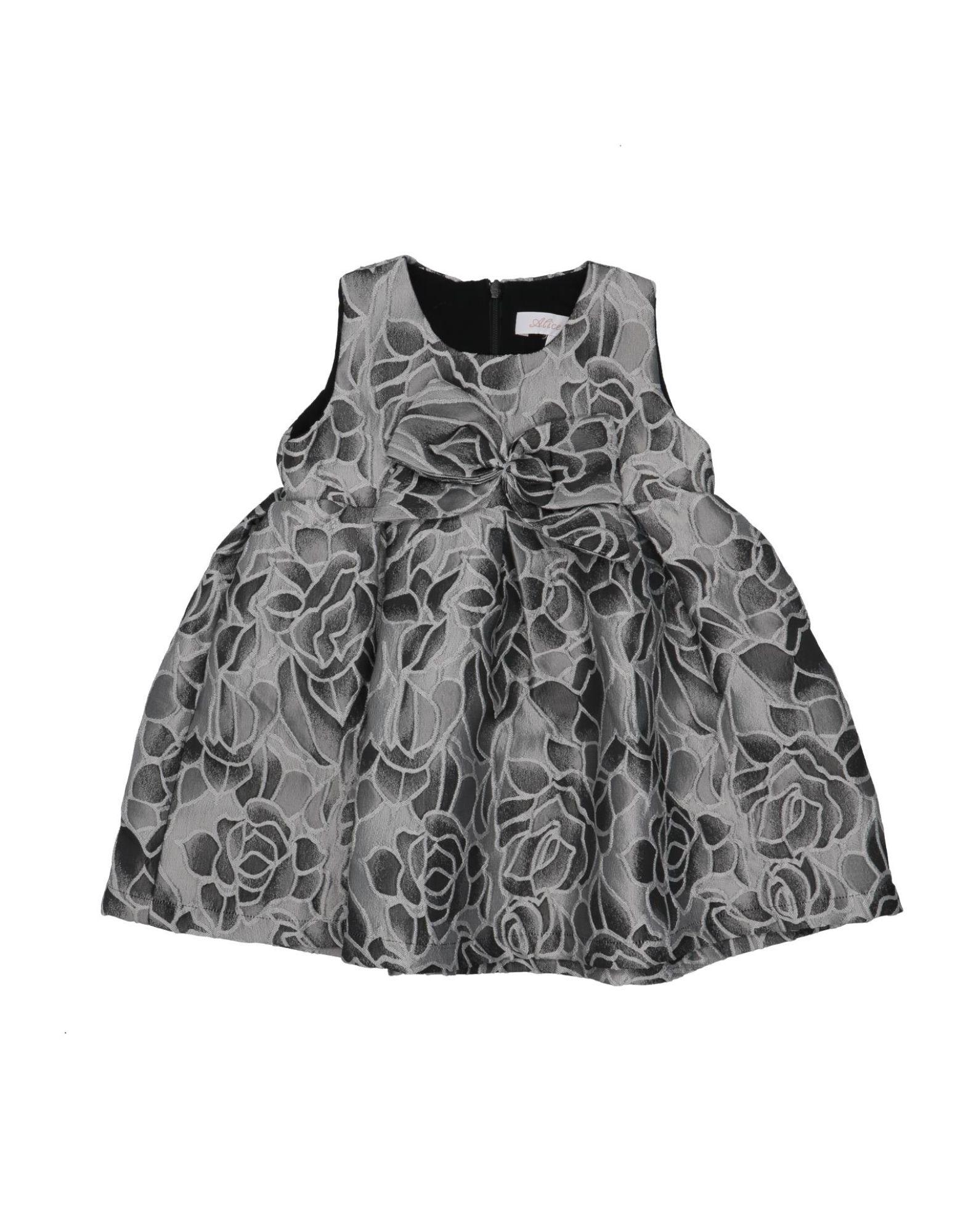 Alice Pi. Kids' Dresses In Grey