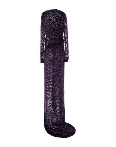 Фото 2 - Женское длинное платье  розовато-лилового цвета