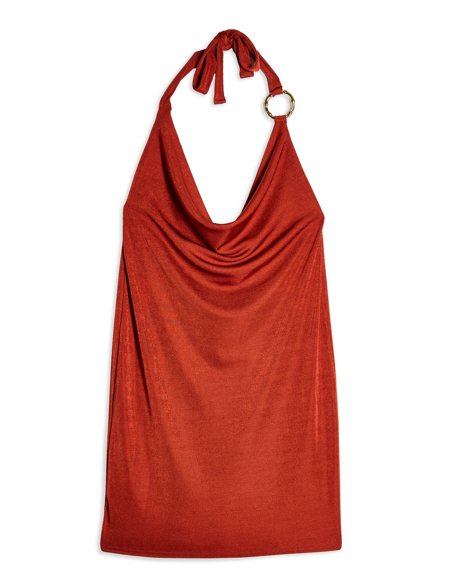 Короткое платье  - Красный цвет