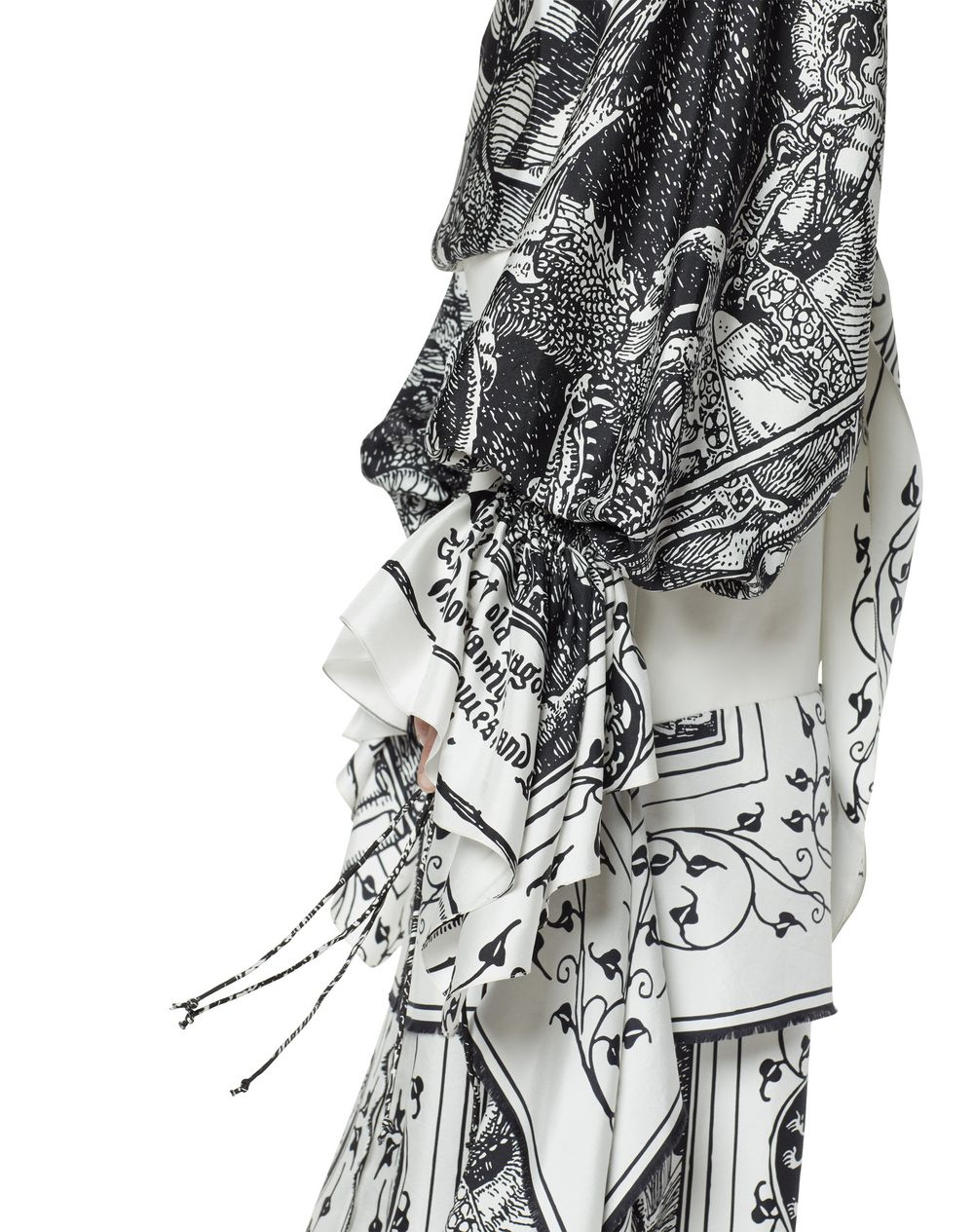 LONG ASYMMETRICAL SCARF DRESS - Lanvin