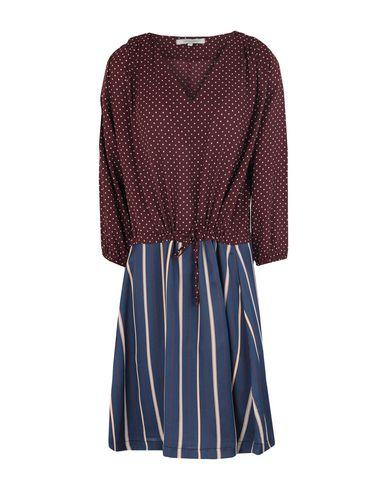 Фото - Женское короткое платье LA FEE MARABOUTEE красно-коричневого цвета