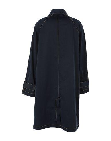 Фото 2 - Женское пальто или плащ FOLK темно-синего цвета