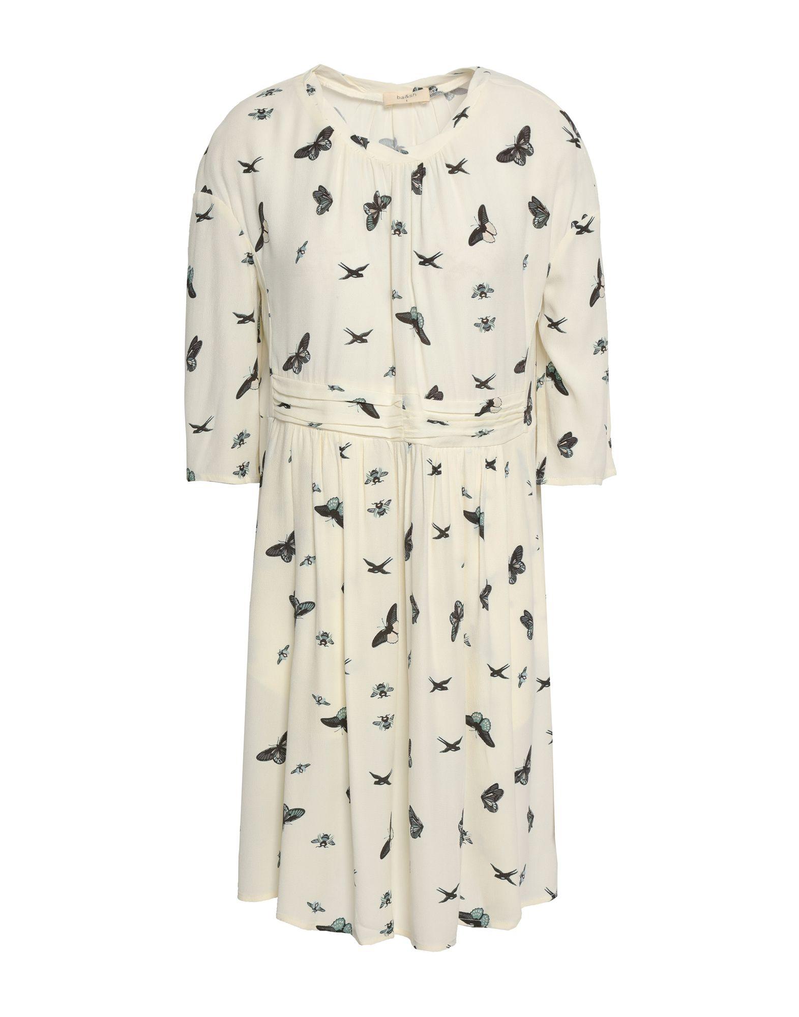 BA&SH Короткое платье платье sh mannum цвет черный rna18376ve black размер xs 40