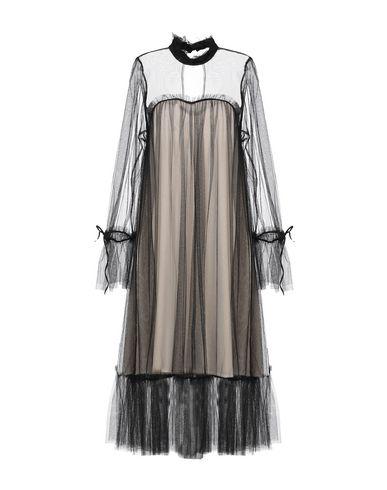 Фото - Платье до колена от LOUXURY черного цвета