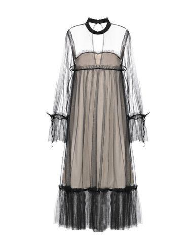 Фото 2 - Платье до колена от LOUXURY черного цвета