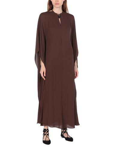 Фото 2 - Женское длинное платье  цвет какао