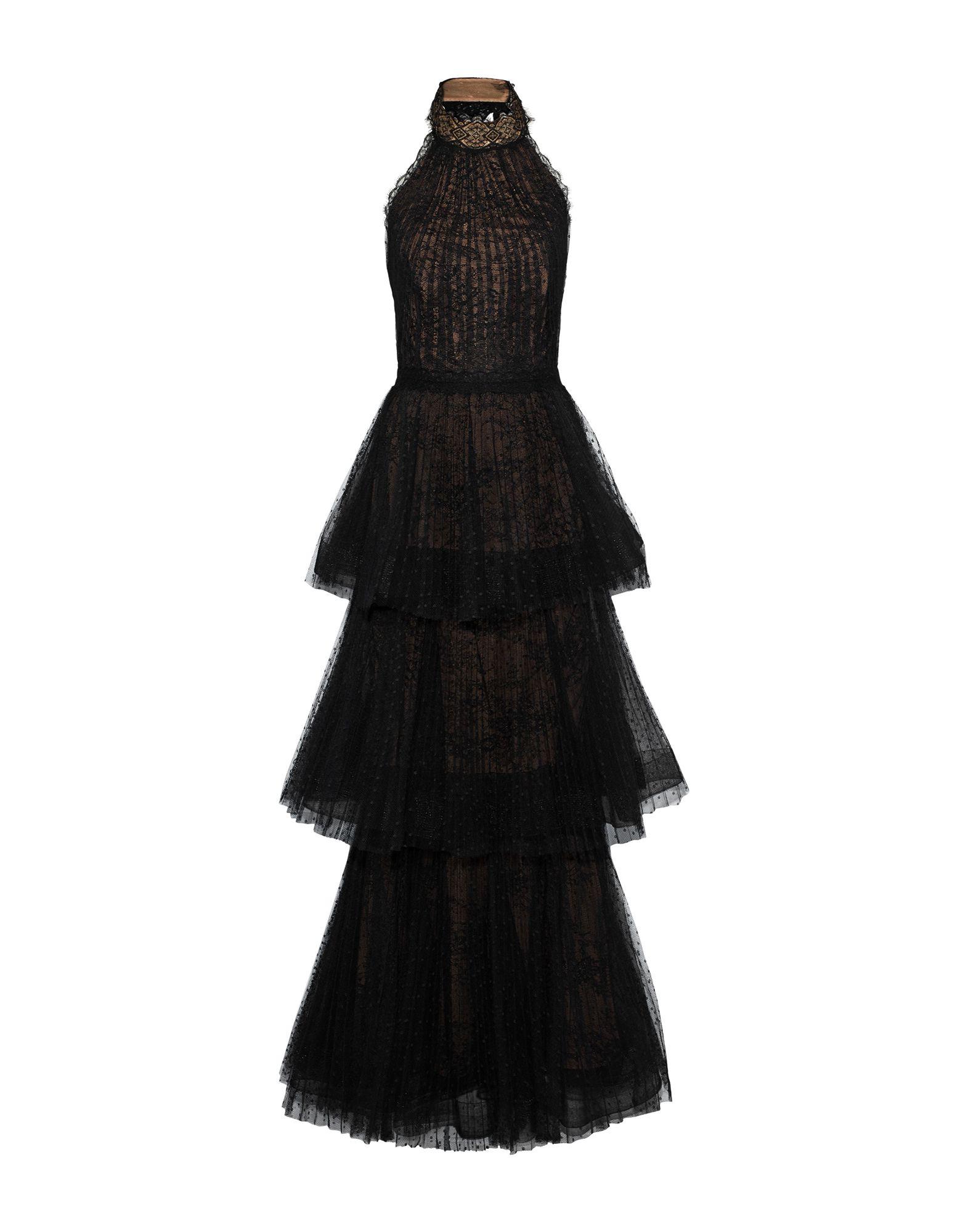 《セール開催中》MARCHESA NOTTE レディース ロングワンピース&ドレス ブラック 8 ナイロン 100%