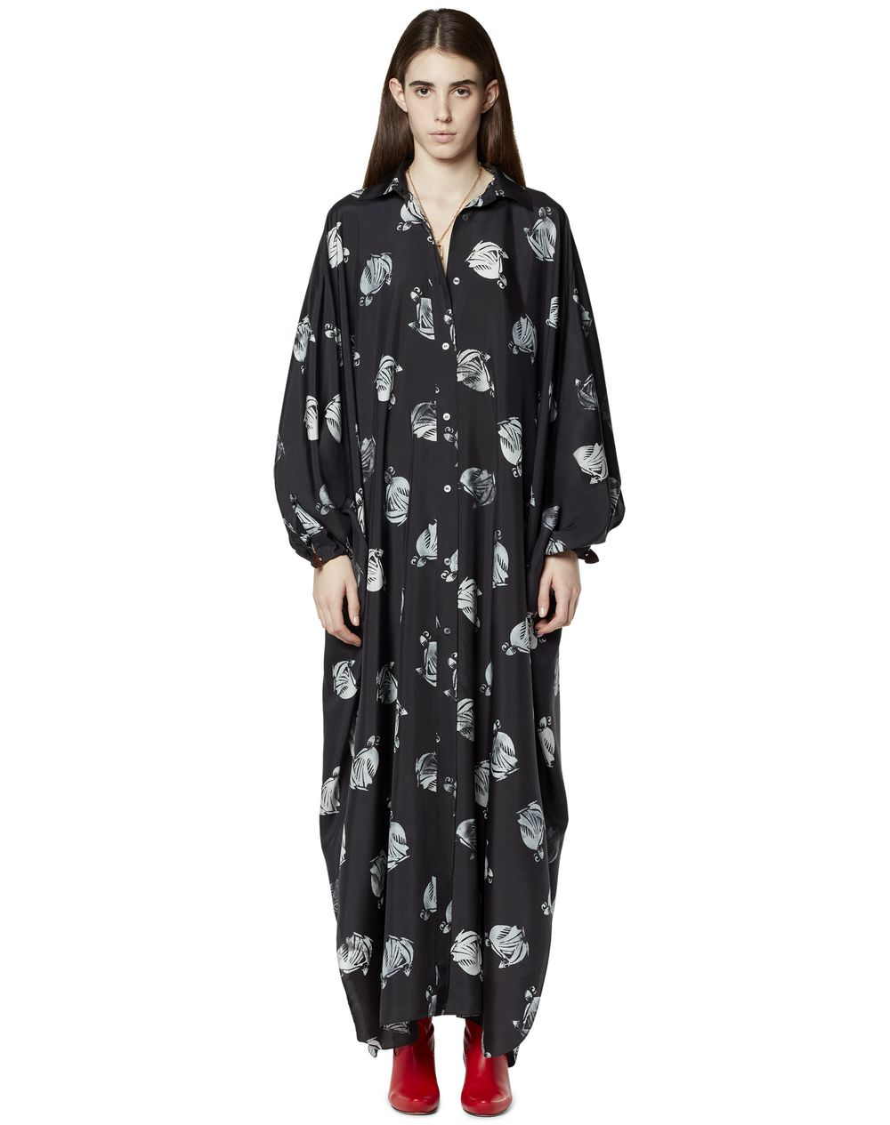 OVERSIZED PRINTED SHIRT DRESS - Lanvin