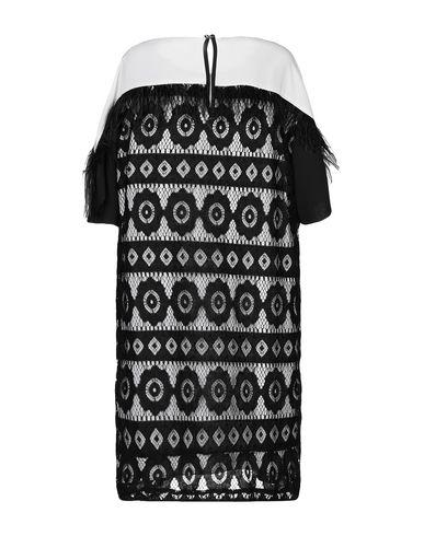 Фото 2 - Женское короткое платье BIANCOGHIACCIO черного цвета